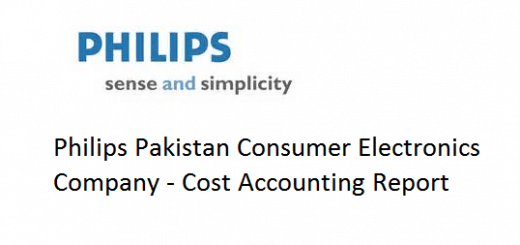 Philips Pakistan Consumer Electronics Company - Cost Accounting Report