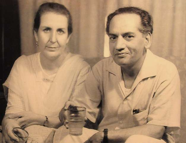 Faiz Ahmad Faiz with Alys Faiz