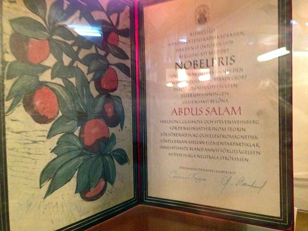 Dr. Abdus Salam Nobel Award - GC University Museum, Lahore.