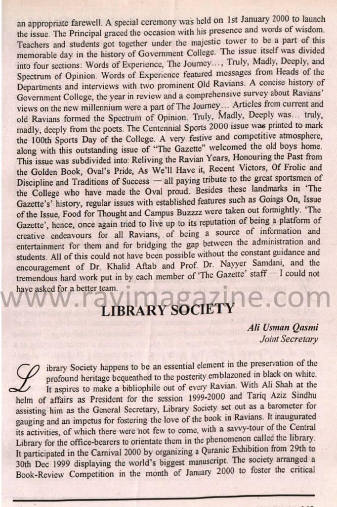 GCU lahore library society