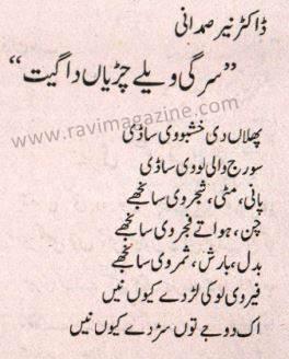 Dr Nayer Samdani – Punjabi Poem | Ravi Magazine