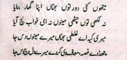 Meri Ghalti Kee Ai - Punjabi Poem