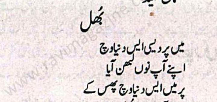 Bhul - Punjabi Poem by U. Hameed