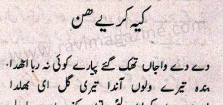 Kee Karayee Hun - Punjabi Poem by A. Qureshi