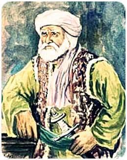 imagined sketch of khushal khan khattak