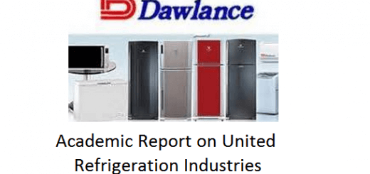 Academic Report on United Refrigeration Industries [Dawlance Refrigerators]