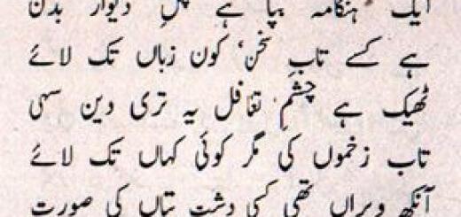Ghazal by Badar Muneerudin