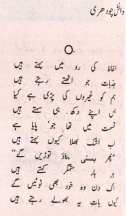 Urdu Ghazal by Danish Chaudary