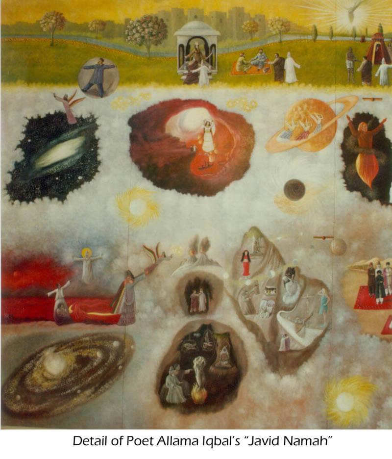 Painting Detail of Javid Namah by Jimmy Engineer 2