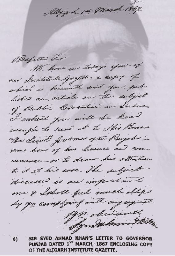 sir-syed-hand-written-letter