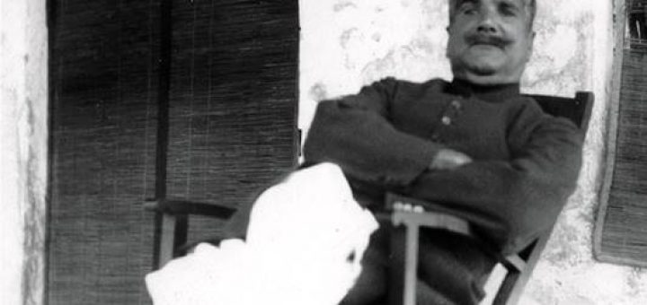 Allama Iqbal at his 116 McLeod Road Lahore Residence