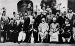 Allama Iqbal meeting a delegation from Jamia AlAzhar of Cairo - Dr Javed is standing behind him