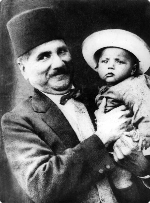 Allama Iqbal with Javed Iqbal