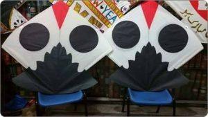 Large Eyed Kites or Gudday in Basant