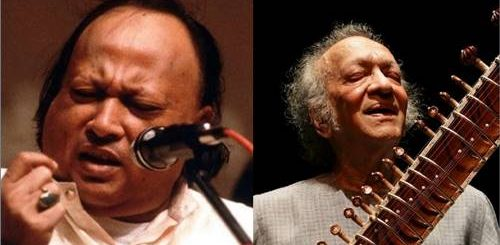 Nusrat Fateh Ali Khan and Ravi Shankar