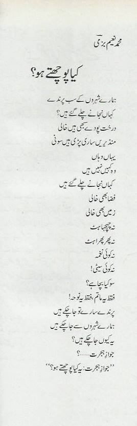 Jawaz-e-Hijart Kaya Poochte Ho-Urdu Poem Muhammad Naeem Bazmi