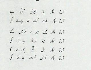Yaad - Urdu Poem by Aisha Arzoo